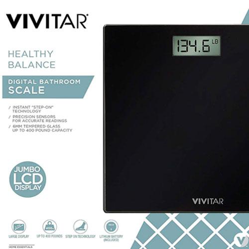 Healthy Balance Digital Bathroom Scale, Black, swatch