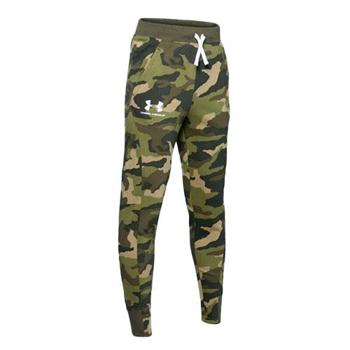Boy's Rival Printed Camo Jogger, Green, swatch