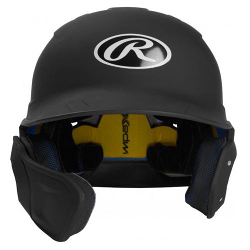 Senior MACH Matte Right-handed Batting Helmet, Black, swatch
