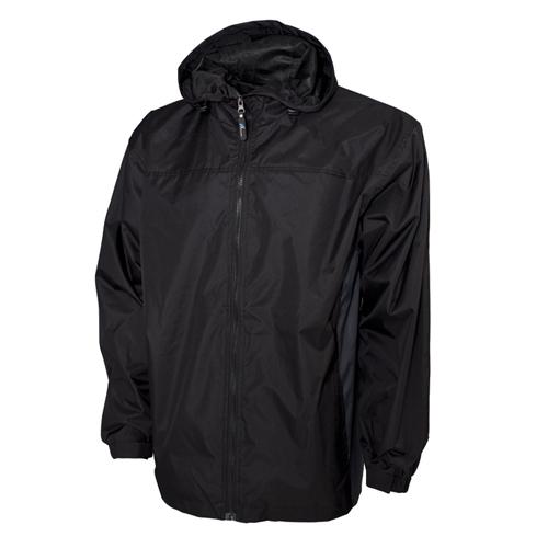 Men's Lightweight Rain Jacket, Black, swatch