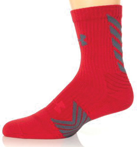 Undeniable Mid Crew Sock, Red/Gray, swatch