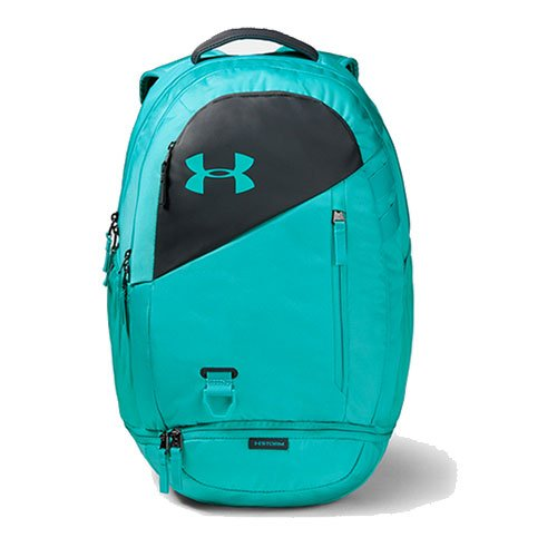 Under Armour Hustle 4.0 Backpack, Blue/Gray, swatch