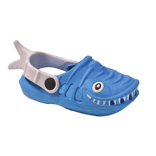 Boys' EVA Shark Clog, Blue, swatch