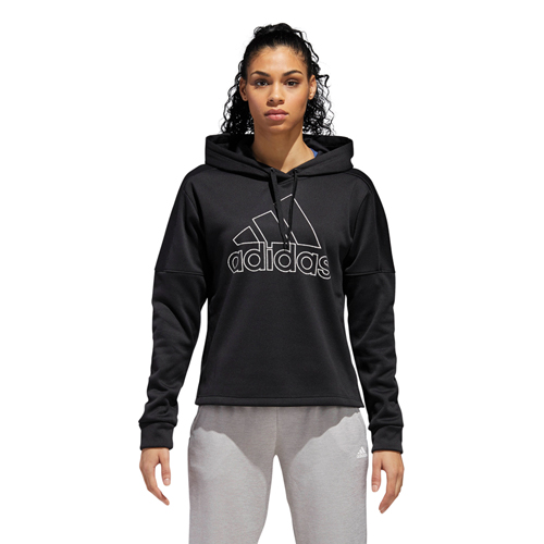 Women's Team Issue Badge of Sport Pullover Hoodie, Black, swatch