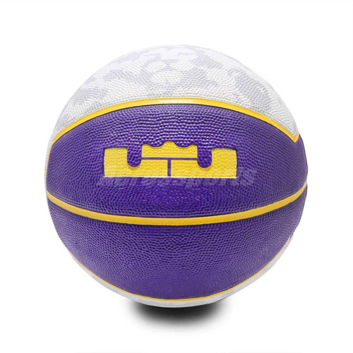 Lebron Official Basketball, Purple/White, swatch