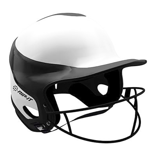 Vision Pro Softball Helmet with Mask, Black, swatch