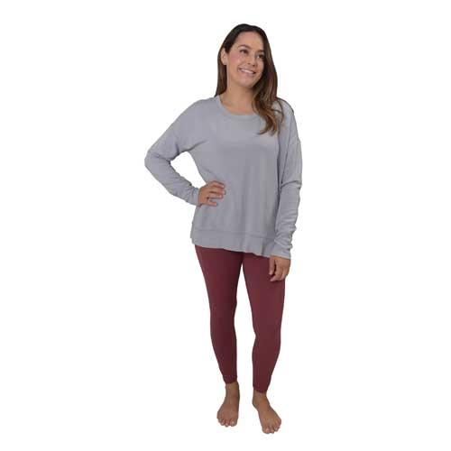 Women's Inside Fleece Modal, Heather Gray, swatch