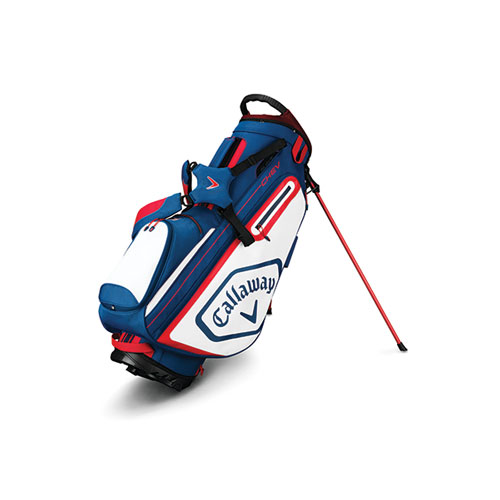 Chev Stand Golf Bag, Red, White And Blue, swatch