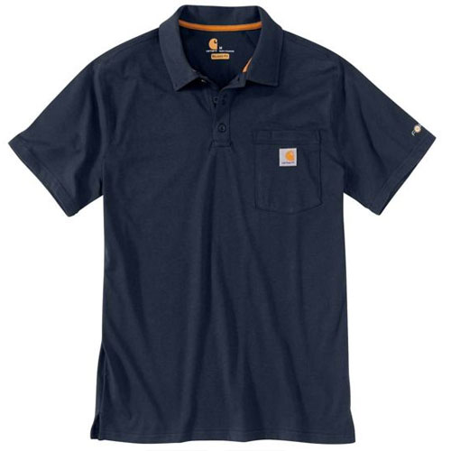 Men's Force Cotton Delmont Pocket Polo, Navy, swatch