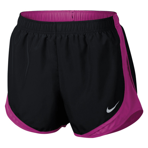 Women's Dry Tempo Shorts, Black/Pink, swatch