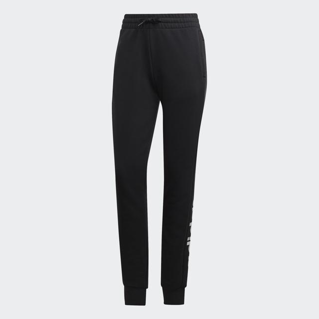 Women's Essentials Linear Jogger Pants, Black/White, swatch