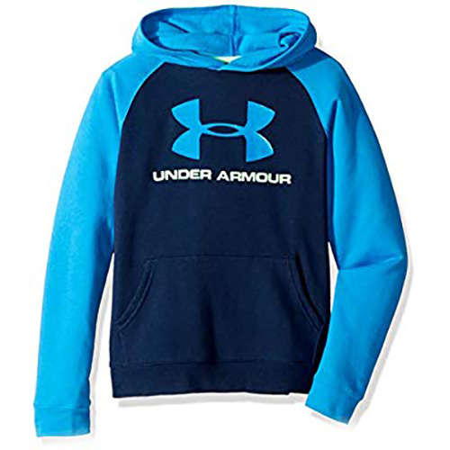 Boy's Rival Logo Hoodie, Navy, swatch