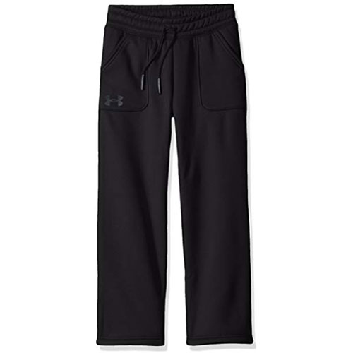 Girls' Storm Fleece Training Pants, Black/White, swatch