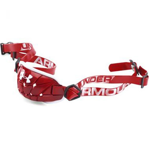 Youth Pro Chin Strap, Red/Silver, swatch