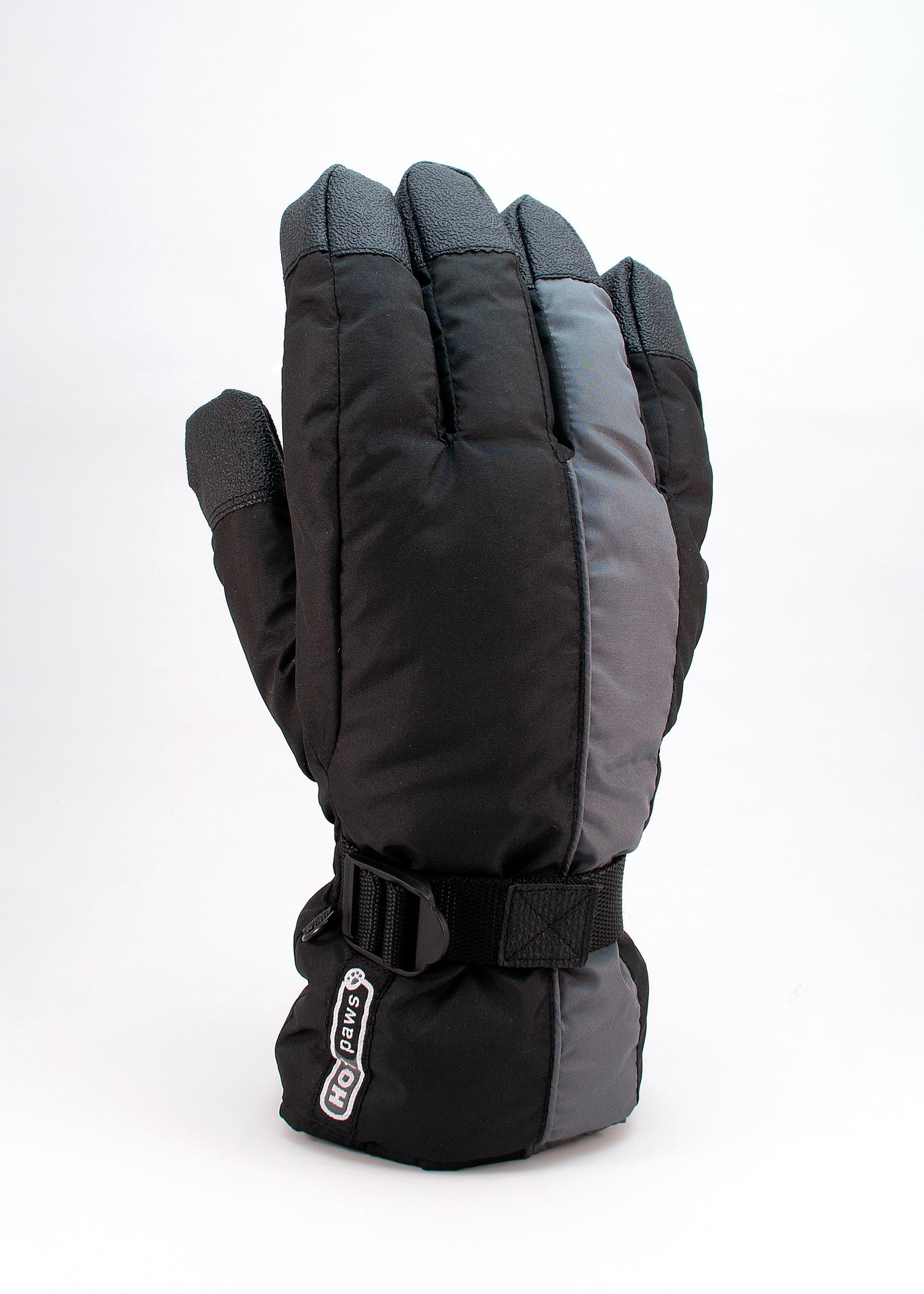 Men's Hot Paws Gaunlet Gloves, Black/Gray, swatch