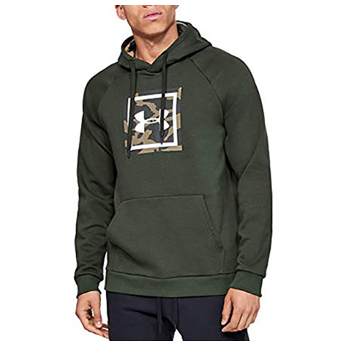 Men's Rival Fleece Printed Hoodie, Dkgreen,Moss,Olive,Forest, swatch