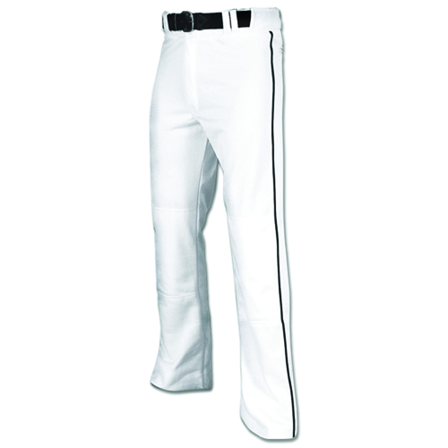 Men's MVP Piped Open Baseball Pant, White/Black, swatch