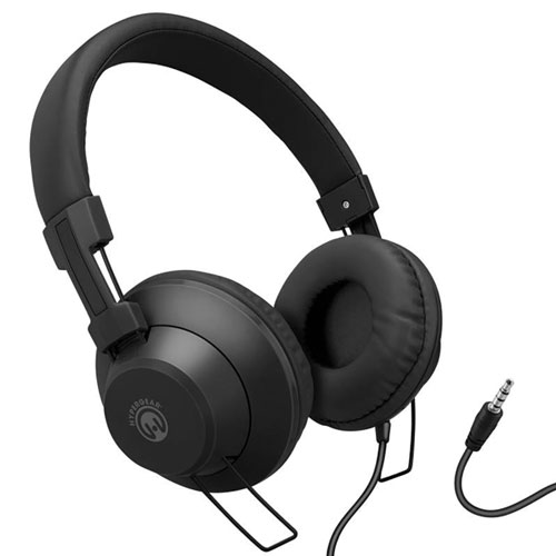 V50 Headphones with Microphone, Black, swatch
