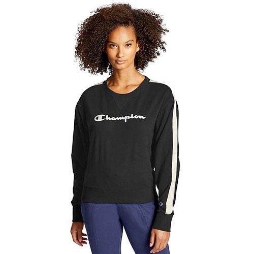 Women's Heritage Fleece Crewneck, Black, swatch