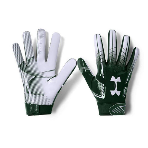 Youth F6 Football Glove, Green/White, swatch