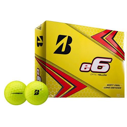 e6 SOFT Golf Balls, Yellow Gold, swatch