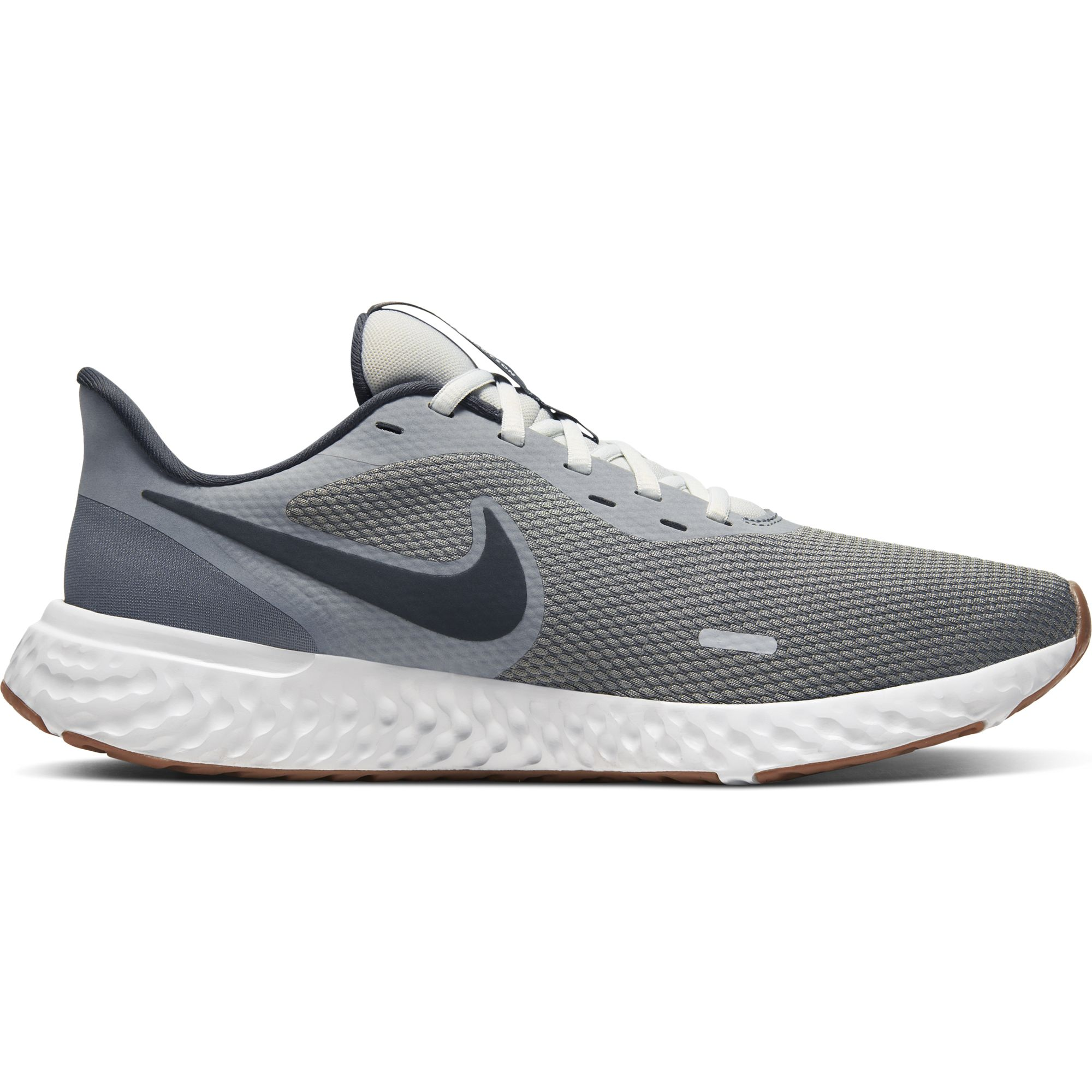 Men's Revolution 5 Running Shoes, Gray/Lime, swatch