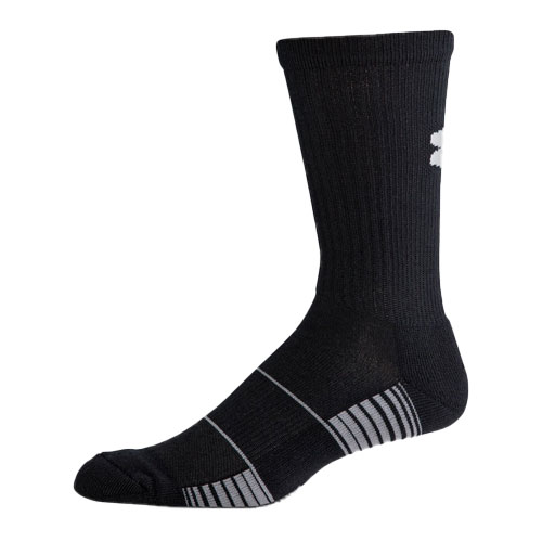 Men's Team Crew Socks, Black, swatch