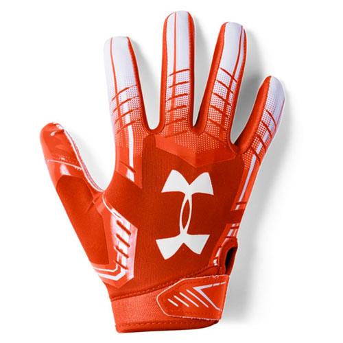 Youth F6 Football Gloves, Orange/White, swatch