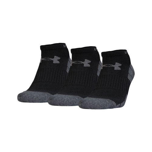 Elevated Performance No Show Socks 3-Pack, Black/Graphite, swatch
