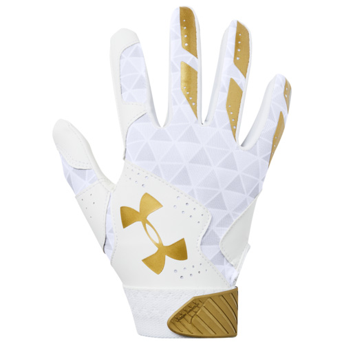 Youth Radar Fast Pitch Batting Gloves, White/Gold, swatch