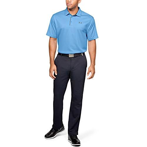 Men's Short Sleeve Tech Golf Polo, Blue, swatch