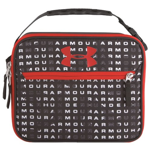 UA Scrimmage Lunch Box, Black Patterned, swatch