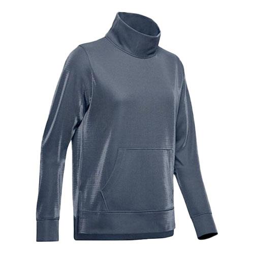 Women's Armour Fleece Mirage Mock Mirage, Heather Gray, swatch