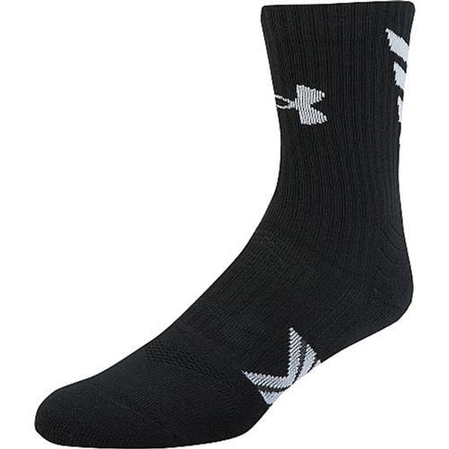 Undeniable Mid Crew Sock, Black/White, swatch
