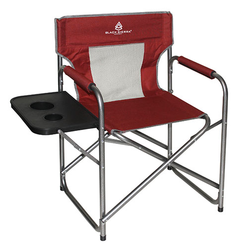 Mesh Director's Chair With Table, Red, swatch