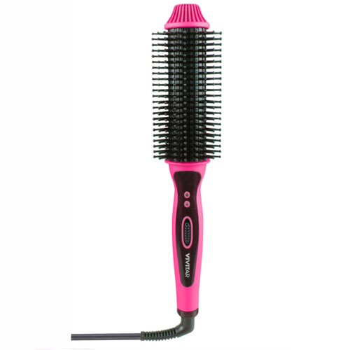 Heated Hair Brush, Pink, swatch