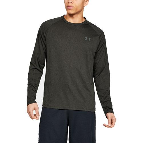 Men's Tech Long Sleeve T-Shirt, Black, swatch