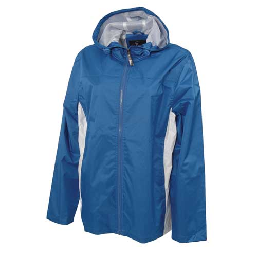 Women's Lightweight Rain Jacket, Blue, swatch