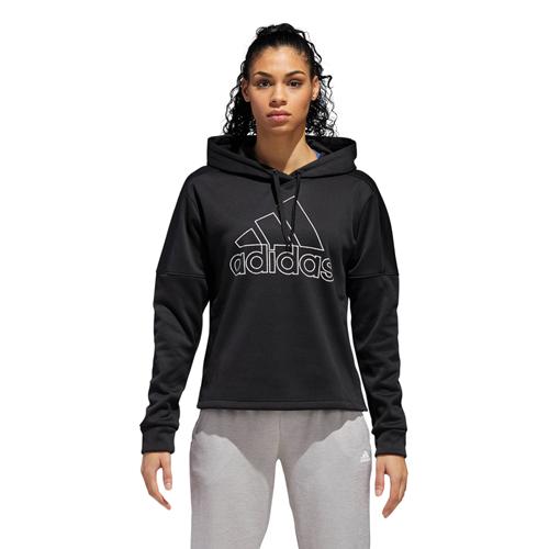 Women's Team Issue Badge of Sport Pullover Hoodie, Black, swatch