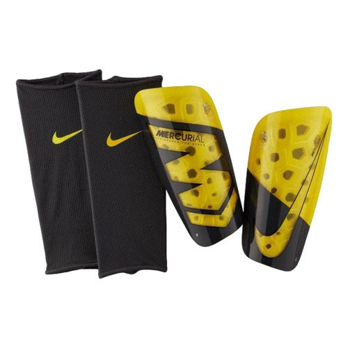 Mercurial Lite Shin Guards, Charcoal And Yellow, swatch
