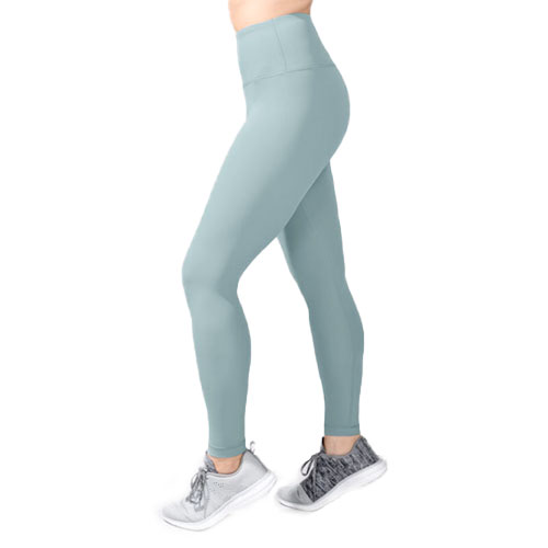 Women's Tech High Rise Ankle Length Leggings, Green Blue, Teal, swatch