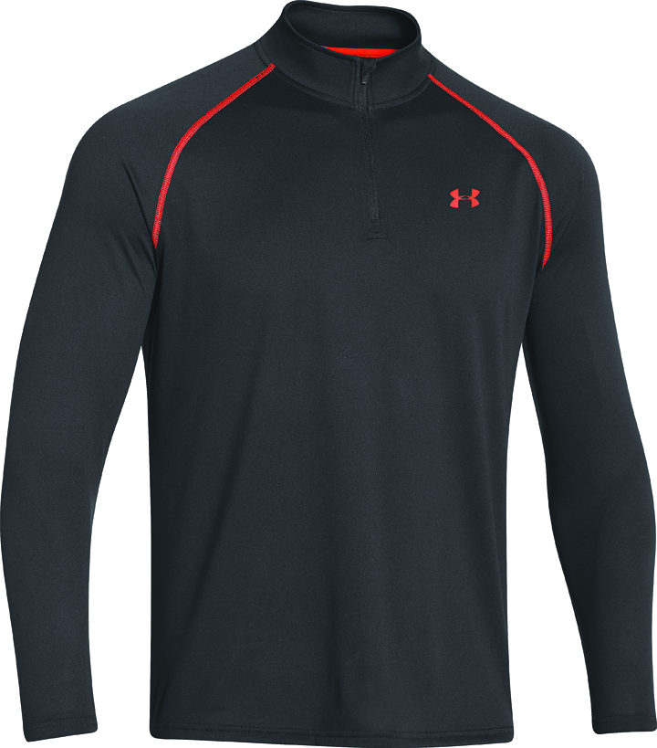 Men's Long Sleeve 1/4 Zip Tech T-Shirt, , large