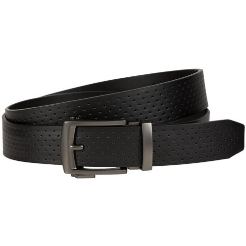 Men's Perforated Acu-Fit Golf Belt, Black, swatch