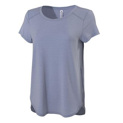 Women's Loose Fit Racerback Short Sleeve T-shirt, Gray, swatch