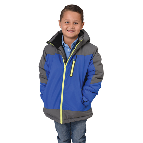 Boy's Swiss Insulated Jacket, Blue, swatch