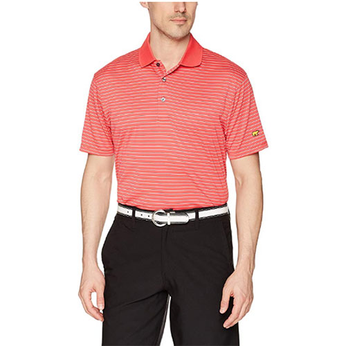 Men's Striped Polo, Red, swatch