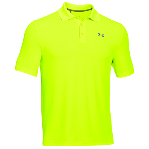 Men's Performance Polo Golf Shirt, Florescent Yellow, swatch