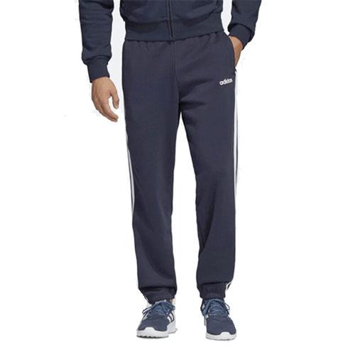 Men's Essentials 3-Stripes Fleece Pant, Navy, swatch