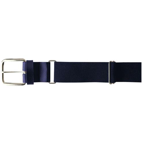 "1.5"" Leather Baseball Belt, Navy, swatch"
