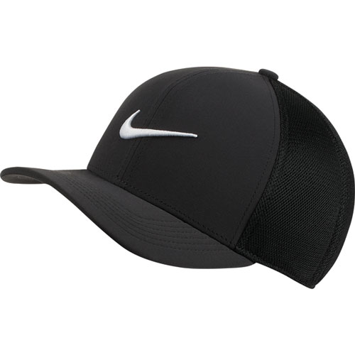 AeroBill Classic99 Mesh Golf Hat, Black/White, swatch